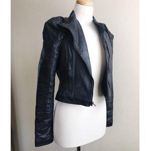 Bcbgmaxazria genuine leather moto jacket